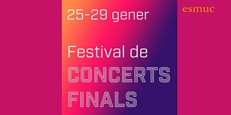 Festival Concerts Finals ESMUC. Kayla Portugal. Piano. 26/01/2021. 18.30h entradas
