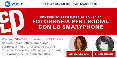 Fotografie per i social | Webinar Gratuiti Digital Marketing biglietti