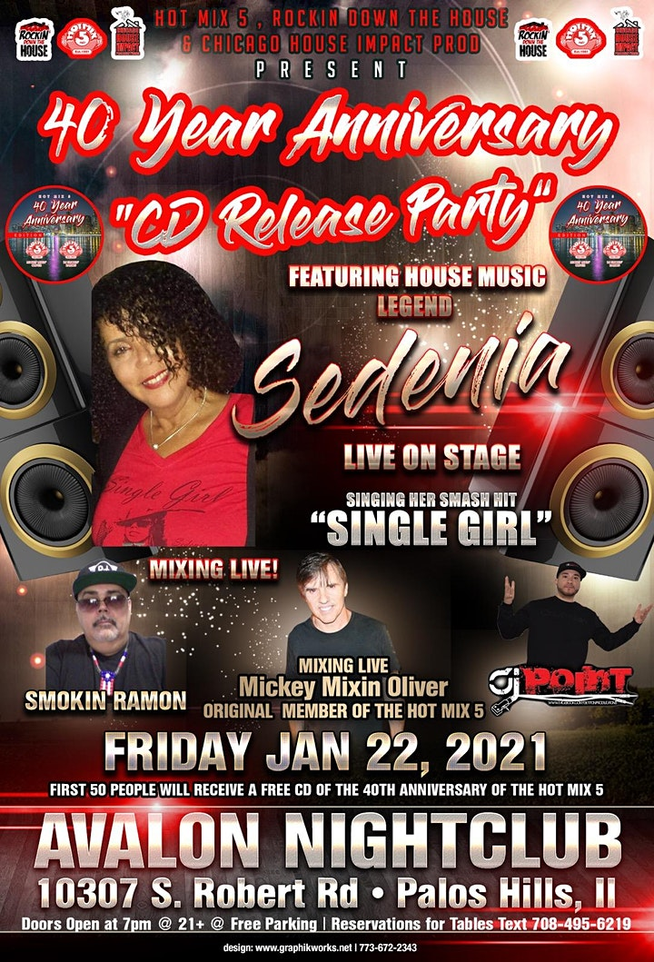 Hot Mix 5 40th Anniversary CD Release Party w/ Mic image