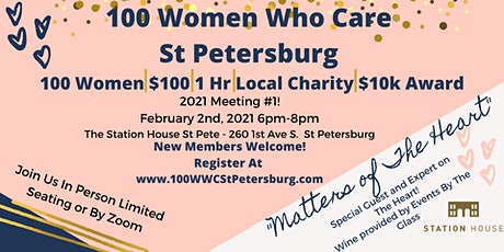 100 Women Who Care St Petersburg  Meeting #1 of 2021! tickets