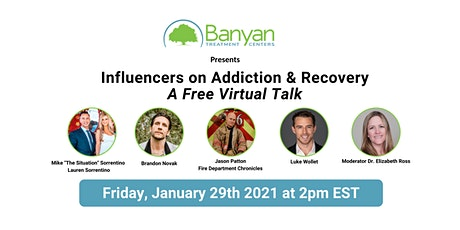 Influencers on Addiction & Recovery: Free Virtual Talk tickets