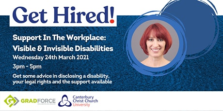 Support In The Workplace: Visible and Invisible Disabilities (Option 2) tickets