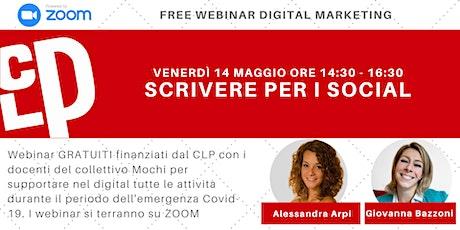 Scrivere per i social | Webinar Gratuiti Digital Marketing biglietti