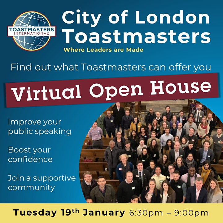 City of London Toastmasters: Open House image