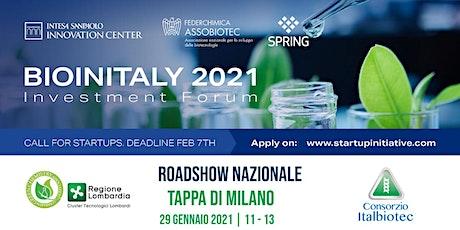 BioInItaly Roadshow 2021  - Tappa di Milano biglietti