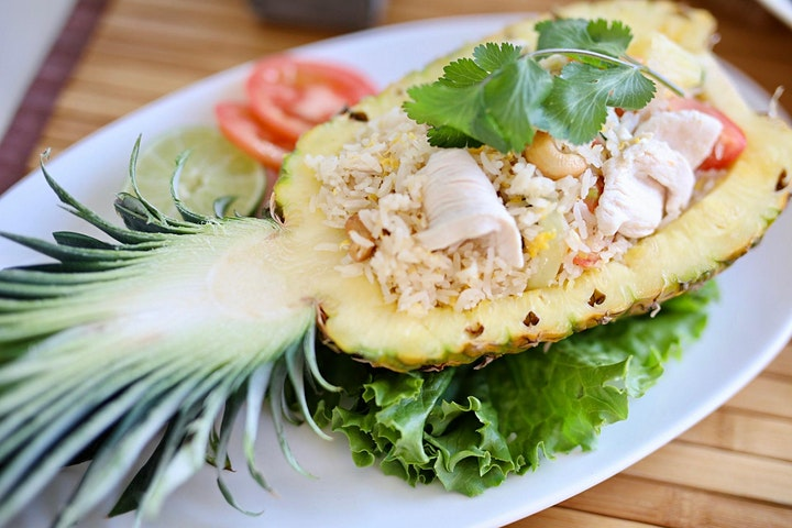 Easy Gluten Free Thai Cook-Along​:Thai Ceviche+Pineapple Cashew Fried Rice image