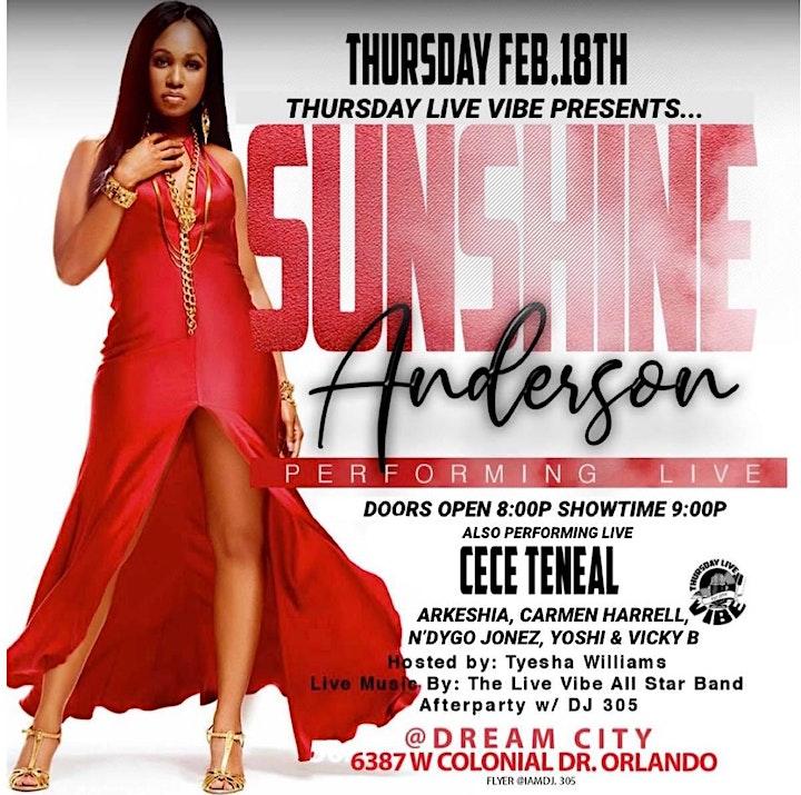 "Thursday Live Vibe  ""RnB Divas Edition"" Featuring Sunshine Anderson image"