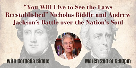 """You Will Live to See the Laws Reestablished"" with Cordelia Biddle tickets"