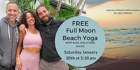 FULL MOON BEACH YOGA CLASS tickets