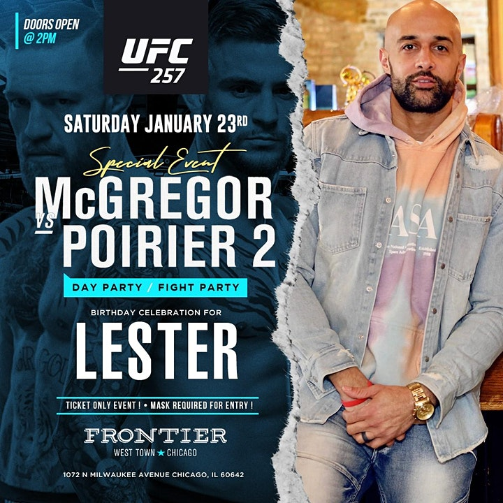 McGregor vs Poirier Fight Party/Day Event! Birthday Celebration For Lester! image
