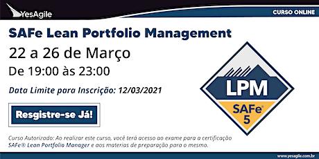 SAFe Lean Portfolio Management com certificação SAFe® - Online - Português bilhetes