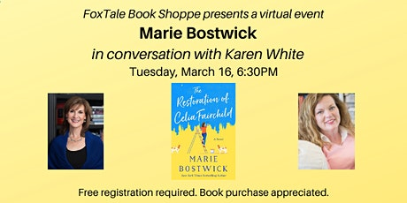 Marie Bostwick in conversation with Karen White Virtual tickets
