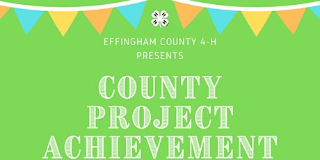 4-H County Project Achievement tickets