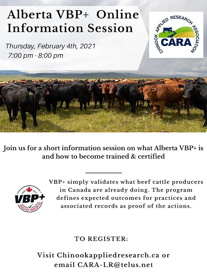 Alberta VBP+ Information Session image