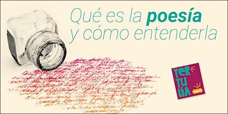 """Tertulia """"Qué es la poesía y cómo entenderla"""" entradas"""