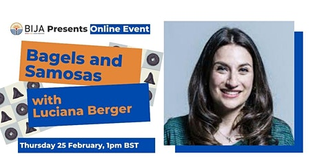 Bagels and Samosas with Luciana Berger tickets