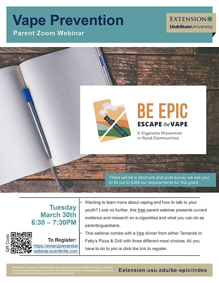 Vape Prevention Parent Webinar (Emery County) image
