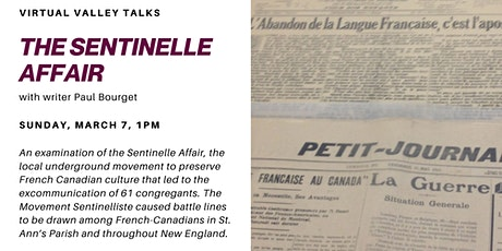 Virtual Valley Talks: The Sentinelle Affair tickets