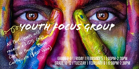 Virtual Youth Focus Group Grades 7-9 tickets