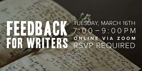 Feedback for Writers (Online Gathering) tickets