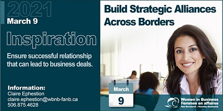 Inspiration Series ''Strategic Alliances'' /''Alliances Stratégiques'' billets