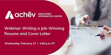 Webinar: Writing a Job-Winning Resume and Cover Letter tickets