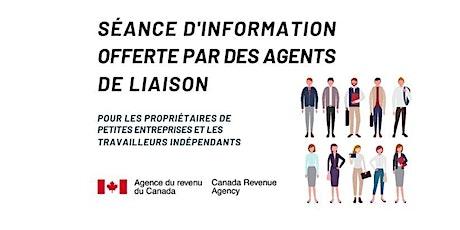 Séance d'information par l'Agence du Revenu du Canada billets