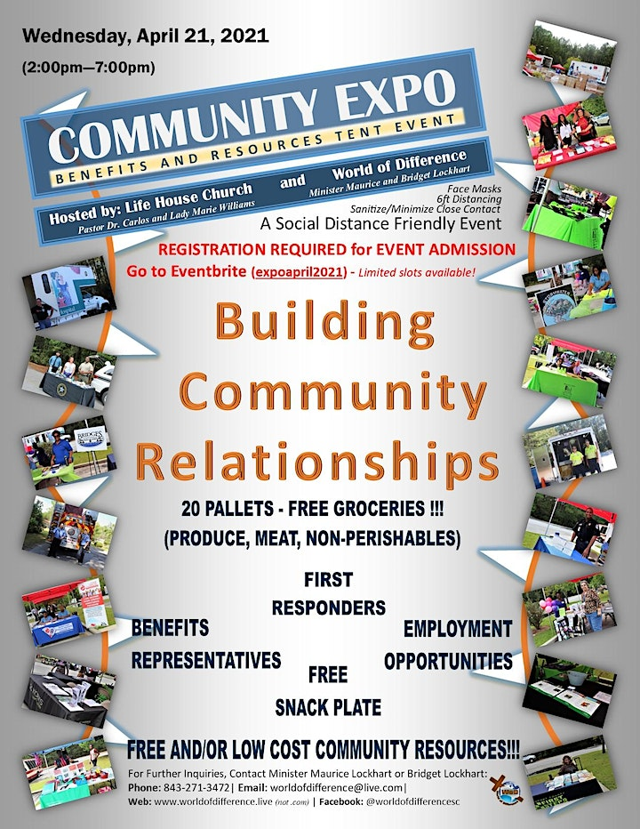 Community Expo - 20 pallets of groceries, Benefits/Resources/Hiring Event image