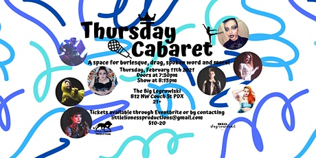 Thursday Cabaret-February 2021 tickets