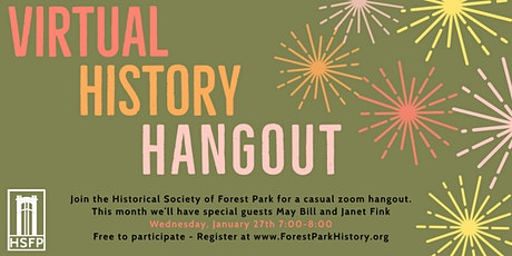 Virtual History Hangout with May Bill tickets