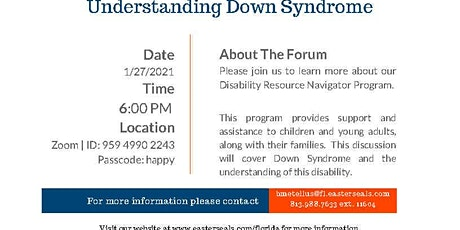 Understanding Down Syndrome tickets