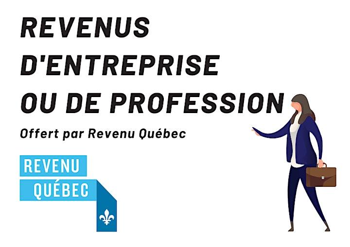 Image de Les revenus d'entreprise ou de profession par Revenu Québec