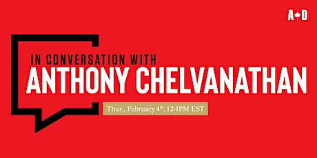 In Conversation with... Anthony Chelvanathan tickets
