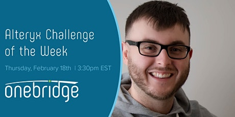 Alteryx Challenge of the Week tickets