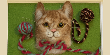 Needle Felting: Customized Cat Portrait tickets