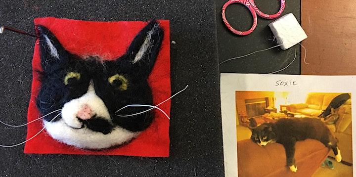 Needle Felting: Customized Cat Portrait image