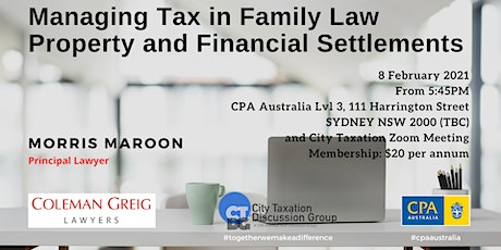 CTDG February Event - Managing Tax In Family Law Property & Settlements tickets