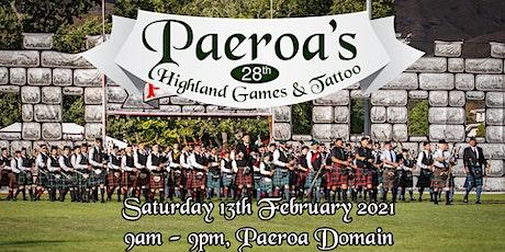 2021 Paeroa Highland Games & Tattoo tickets