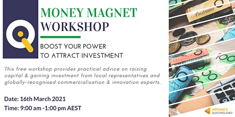 Innovate Queensland's Money Magnet Workshop — Mackay-Isaac & Whitsundays tickets