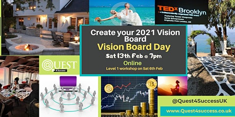 Online Vision Board Workshop Level2 13FEB2021 tickets