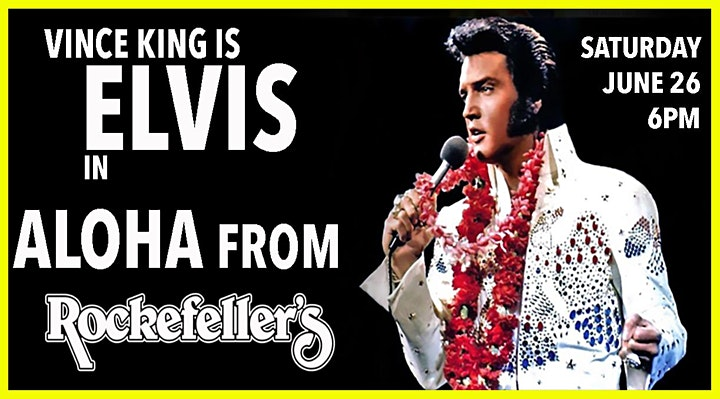 Vince King as ELVIS in ALOHA FROM ROCKEFELLERS ! image