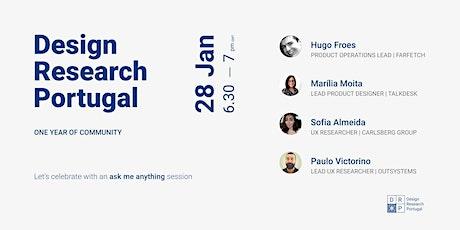 Aniversário Design Research Portugal - Ask me Anything bilhetes