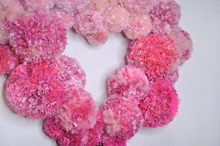 Valentine Pom Pom Wreath with Eco Materials image