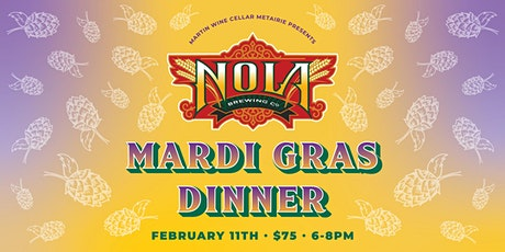 NOLA Brewing Mardi Gras Dinner tickets