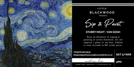 Sip & Paint: Starry Night Van Gogh at Little Blackwood, Queenstown tickets