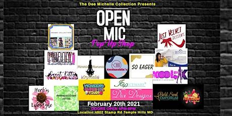 Open Mic Night Pop Up Shop tickets