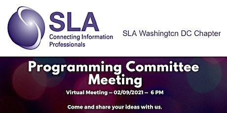 DCSLA February Programming Committee Meeting tickets