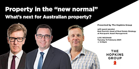 """Property in the """"new normal"""": What's next for Australian Property 