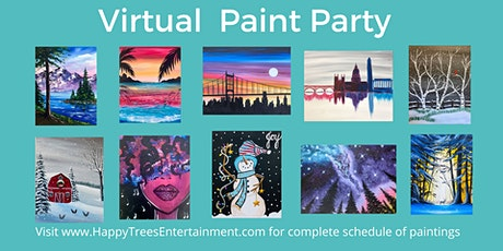 Virtual Paint Party (Online Painting Class) tickets