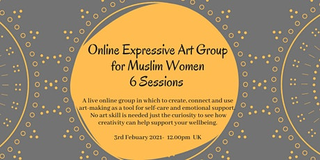 Wellness At Home: Online Expressive Art Group  For Muslim Women. 6 Sessions tickets